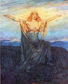 Brunhilda Wakes Up by Arthur Rackham