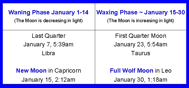 moon phases 2010. Moon Phases for January 2010