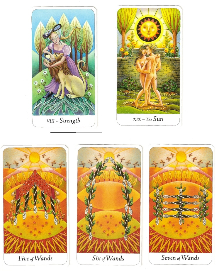Astrological Picture Book ~ Minor Arcana Cards of Leo