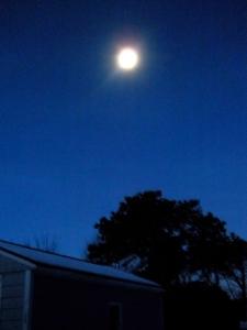 Christmas Morning Moon