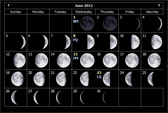 Moon Phases June 2011 Auntie Moon