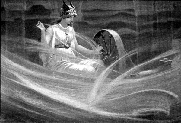 Frigg Spinning the Clouds by John Charles Dollman