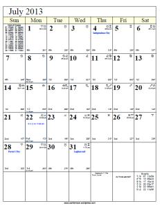 ... png 26kB, Lunar Cycle Calendar July 2013 | New Calendar Template Site