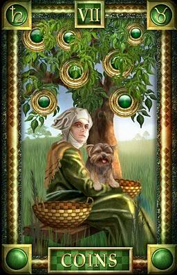 Astrological Picture Book ~ 3rd Decan Taurus and the 7 of Pentacles
