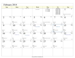Lunar Cal_2014_Feb