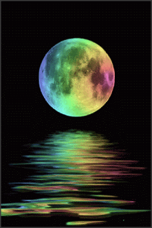 The Daily Moon ~ August 28, 2015 ~ Tie Dyed Lady