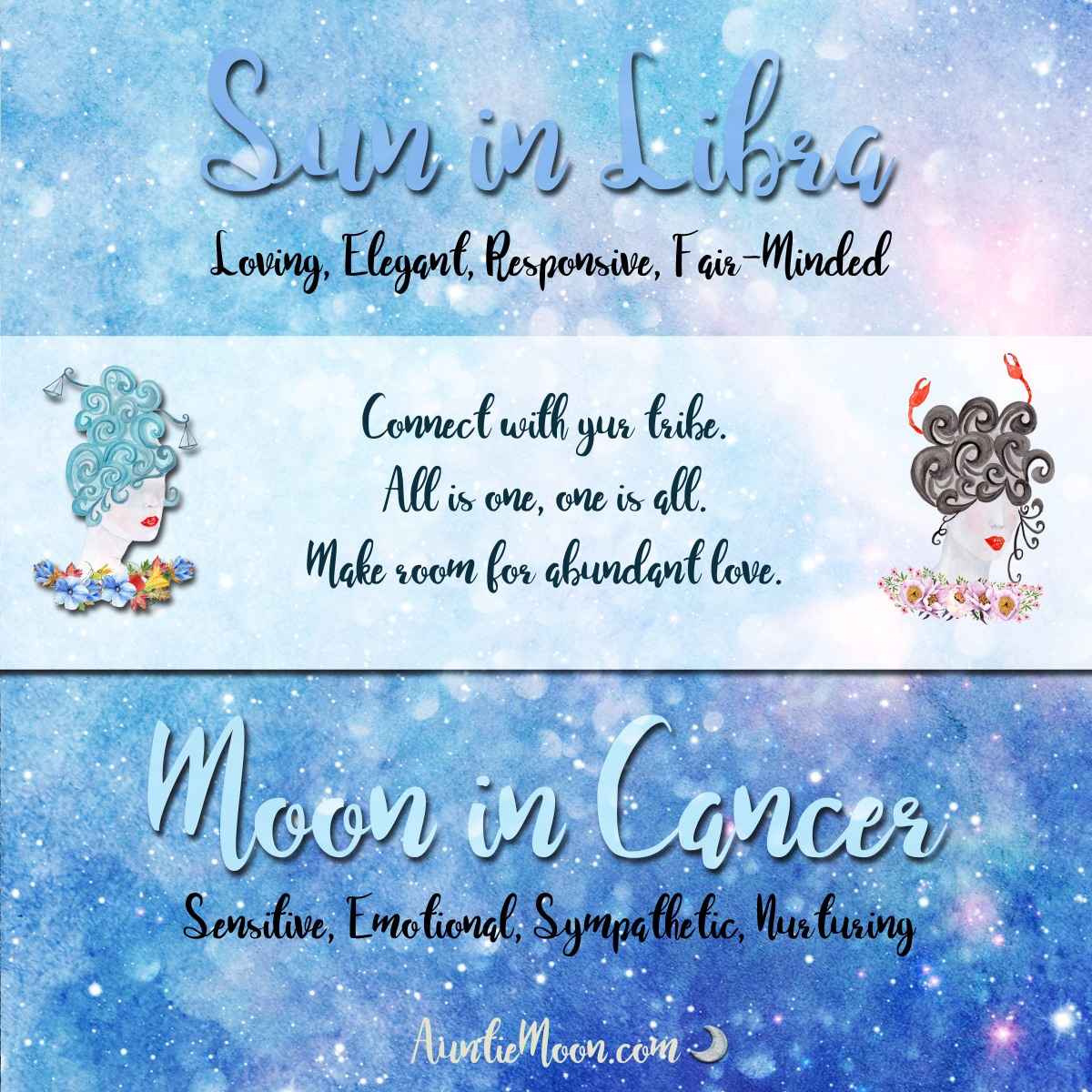 Sun in Libra ~ Moon in Cancer