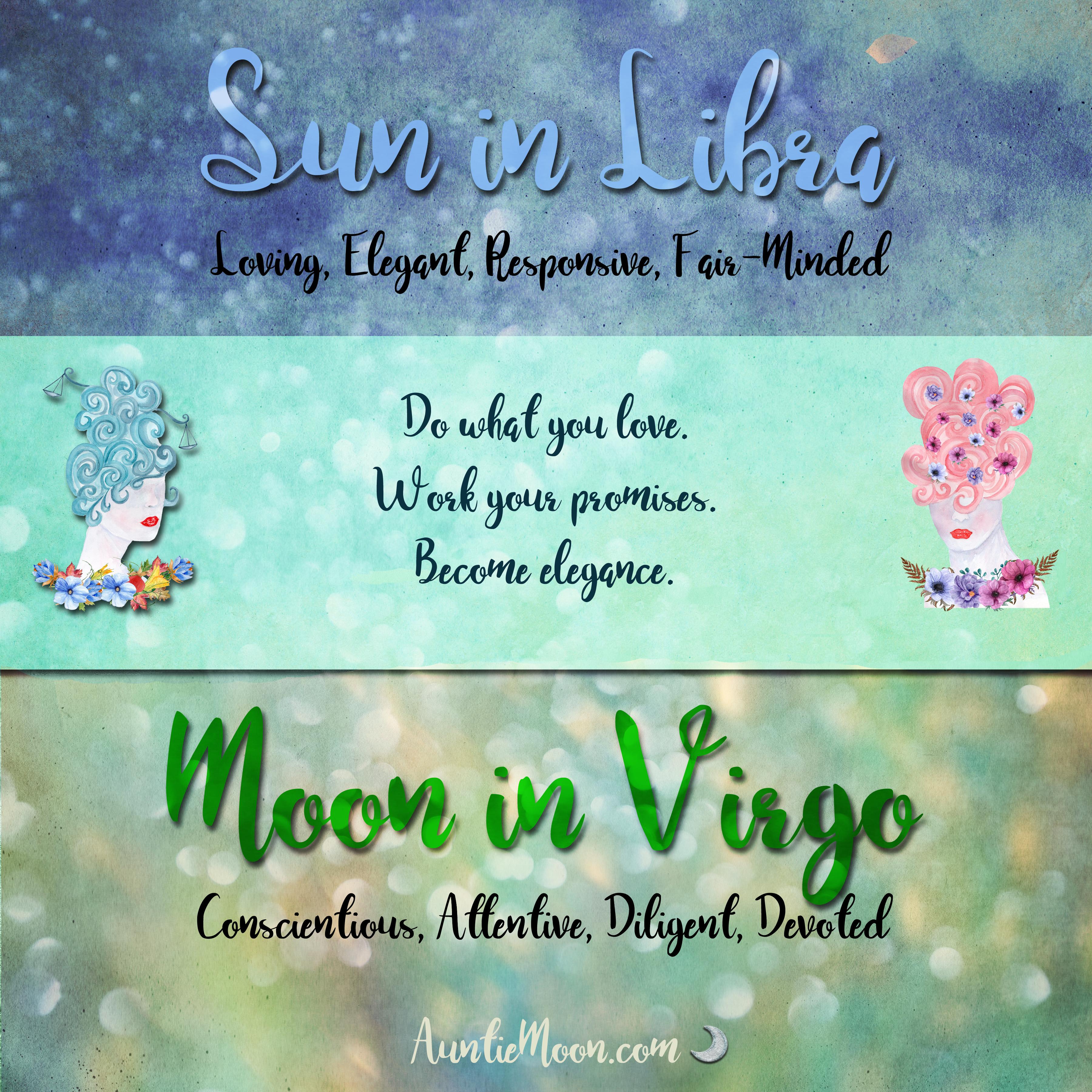 Sun in Libra ~ Moon in Virgo – Auntie Moon