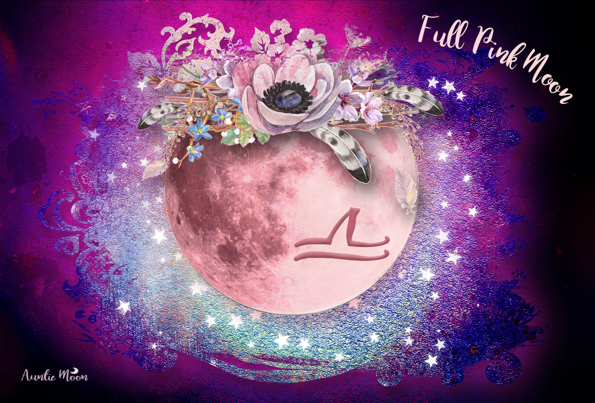 Full Pink Moon in Libra with Full Moon Freebie