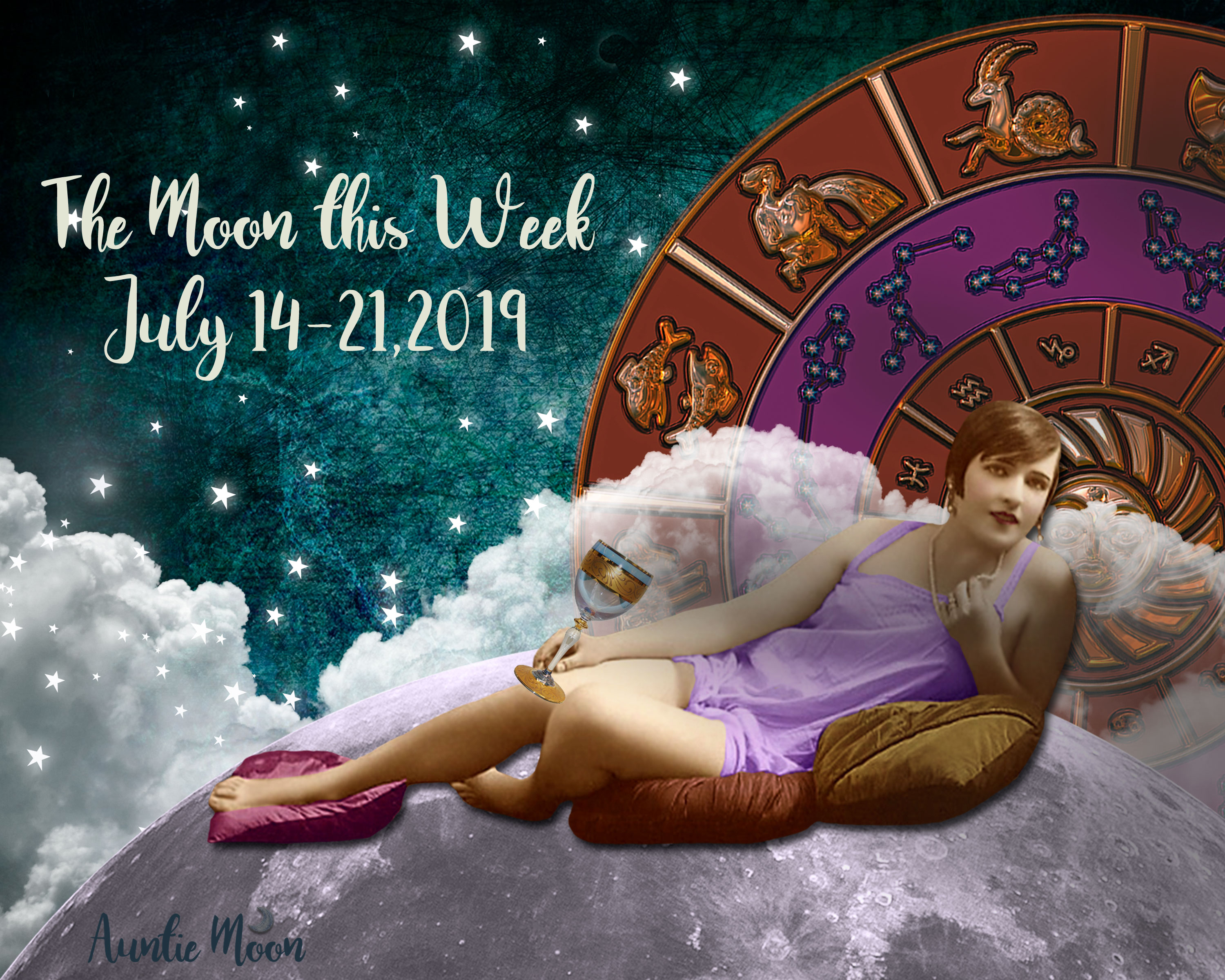 The Moon this Week, July 14-21 ~ Featuring a Full Moon Lunar Eclipse in Capricorn