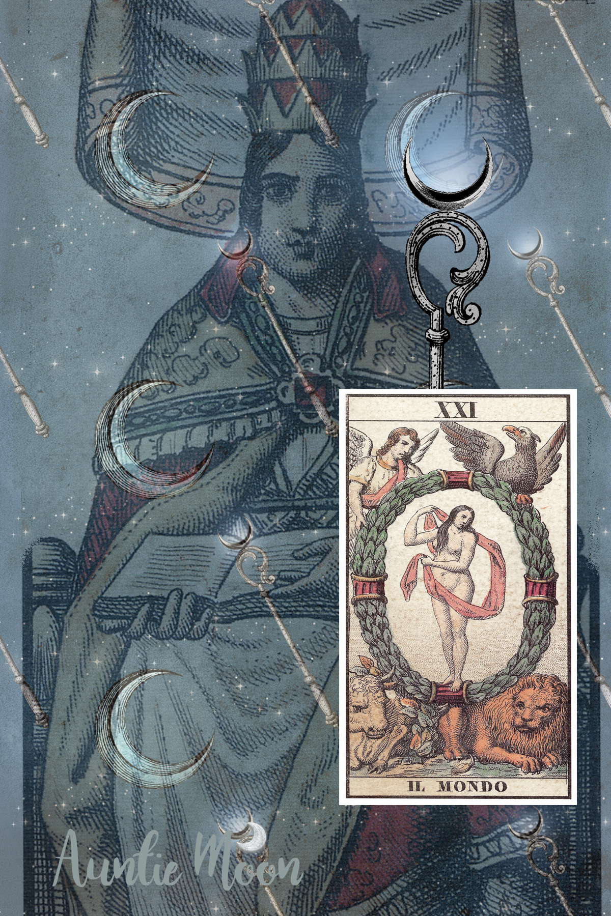 Tarot-Lunar: The World-Moon in Capricorn